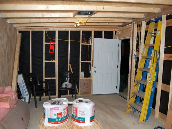 New rodent room during construction.